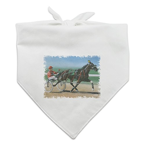Graphics and More Harness Racing Horse Sulky Trotter Dog Pet Bandana - White -  BND.WHT.QQJQLMG00.Z001443_8