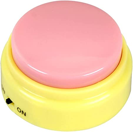Cover Mini Size Sound Button Custom Recordable Talking Button Make Your Own Massage Best Custom Gifts for Friends, Kids, Family M7 (Yellow)