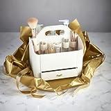 Lakeland - Coffret / Boîte A Maquillage En Similicuir Crème (20 x 16 x 15cm)