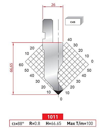 EURO - AMADA TYPE PRESS BRAKE PUNCH ES-1011 SEGMENTED 31,69 INCH 805 MM (Press Brake Punch)