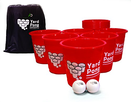 Yard Pong - Giant Bucket Ball Game Set - Made For Outdoor Events Such As Tailgating, Beach, Camping, Pool, Lawn, and BBQ Events