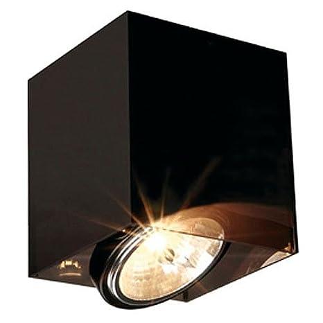 Lámpara de techo acrílico BOX 1er QRB 111 negro/translúcido ...