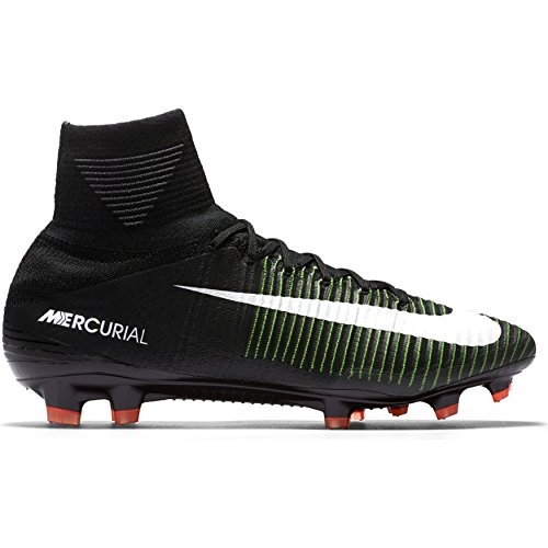 Nike Men's Mercurial Superfly FG Soccer Cleat (Sz. 8.5) Black, Electric (Nike Nike Mercurial Superfly)