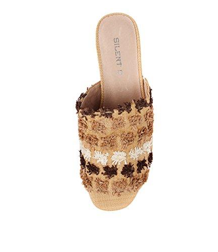Multi Sandals NATURAL SILENT Natural Kaye D Heels Womens High MULTI RAFFIA Shoes qwtABa