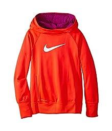 Nike Girl\'s Nike KO 3.0 Over The Head Training Hoodie Orange Size Large