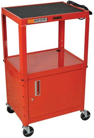 Luxor W42ARCE Adjustable Steel A/V Cart