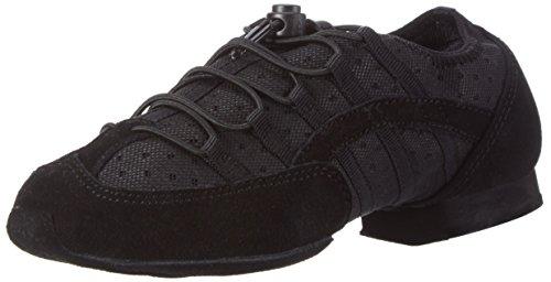 negro color baile Mambo Rumpf de Zapatillas SHXWP