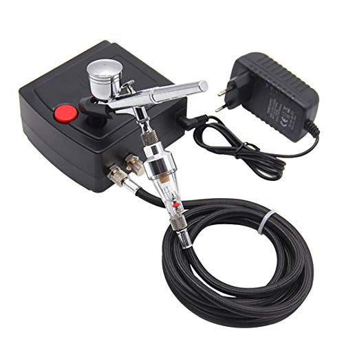 0.2/0.3Mm Dual Action Airbrush With Compressor Portable for sale  Delivered anywhere in USA