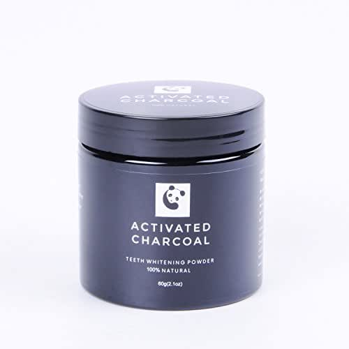 Teeth Whitening Powder Shang Yi Natural Activated Coconut Charcoal Tooth Whitener for Sensitive Teeth and Gums Remove Tea Coffee Smoke Stain FDA Certificated 2.1oz.