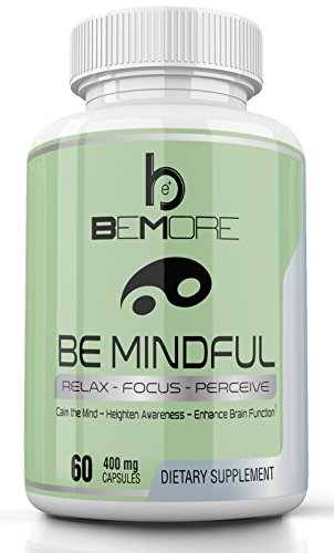 BE MINDFUL | Brain Health Supplement | Stay Alert, Keep Calm, Increase Focus, Boost Mood, Memory & Energy, Relieve Anxiety & Stress with St Johns Wort, Valerian, Hops & More
