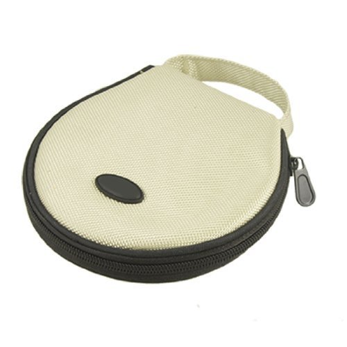- Water & Wood Ivory Black Nylon Zip Closure 20 Capacity CD Holder Bag
