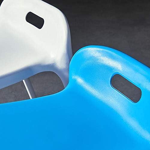 DALL Tabouret De Salle À Manger Empilable Tabouret De Table Plastique Tabouret De Maquillage Pratique Pratique Salon Antidérapant (Color : Blue, Size : 2 Pieces)