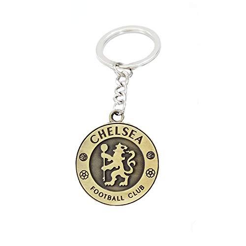 ZQfans Real Madrid,FC Barcelona Keychain Football Club Team Metal Keychain Gift for Football Fans (Chelsea) (Chelsea Team Fc)