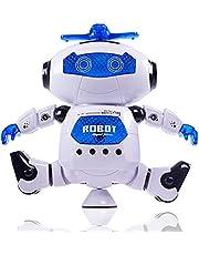RC Robot Toy Remote Control Electronic Toy Robot Pet Walking Dancing Lightning Musical Toys For Children Kids Boy Gift