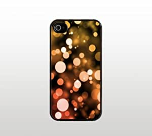 Beautiful Dots Snap-On Case for Apple iPhone 4 4s - Hard Plastic - Black - Cool Custom Cover