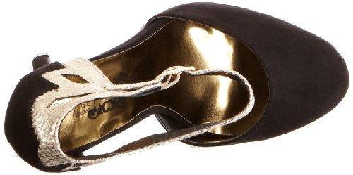 Glitteratti Women's Chara 1 Ankle Strap Heels Black 7kcUJJ