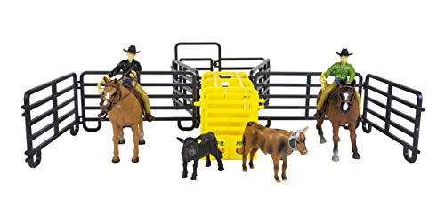 - Big Country Toys Roper Set - 1:20 Scale - Rodeo Toy Set - Proprietary Blend of Plastic - Durable & Lifelike - Playable & Collectible