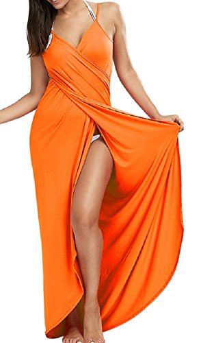 Women Solid Color Backless Cross Straps Swimwear - 4