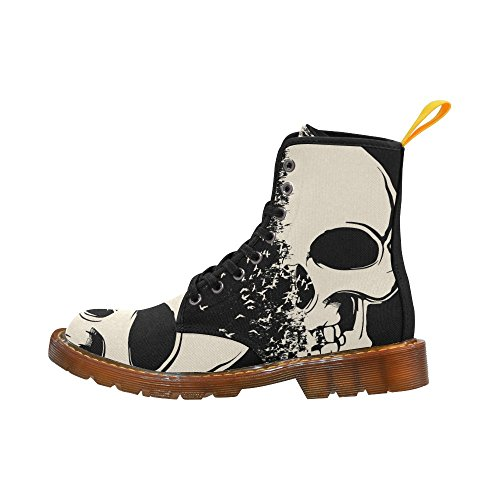 Scarpe Da D-story Cool Skull Lace Up Martin Boots Da Donna