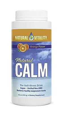 Natural Vitality Natural Calm Magnesium Anti Stress, Organic, Orange