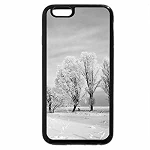 iPhone 6S Case, iPhone 6 Case (Black & White) - golden trees in winter