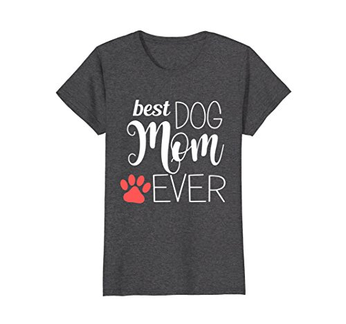 Womens Best Dog Mom Ever gift for mom Worlds Best Dog Mum T-Shirt Large Dark (Worlds Best Mum)