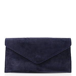 Genuine Italian Suede Leather Envelope Clutch Bags Party Wedding Purse Handbag Cross Body Bag CW01