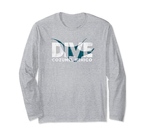 Cozumel SCUBA DIVING Mexico Diver Manta Ray DIVE Long Sleeve T-Shirt