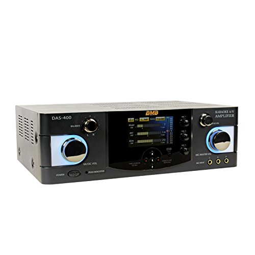 Pair BMB DAH-100 200W Amplifier /& BMB CSN-300 8 3-Way Karaoke Speaker Speaker Cable and 15ft Pin to Banana Plugs Package OFC Pair Pair w//Speaker Mount