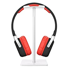 Headphone Stand, Auledio Universal Aluminum Headphone Holder Headset Showing Display Stand Hanger for All Headphones Size - White