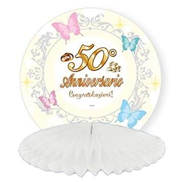Anniversario Matrimonio Amazon.Festone Da Tavolo Centrotavola 50 Anniversario Matrimonio Addobbi