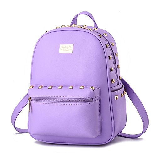 Desklets Girl Women's Rivets Backpack Daily Shoulder Bags Stacchel - Uk Sale Versace Bag