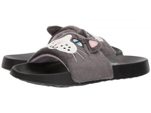 BOBS from SKECHERS(ボブス スケッチャーズ) レディース 女性用 シューズ 靴 サンダル 2nd Take - Faux Fun - Charcoal [並行輸入品]