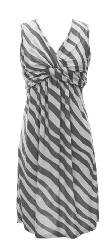 Fun Trendy Knotted Twist Tank Sleeveless Striped Sundress