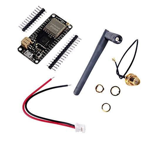 LoRa32u4 II Development Board 915MHz LoRa Module IOT SX1276 HPD13 WiFi Transceiver+ 2dBi SMA IPEX Antenna +JST PH2.0mm Terminal Connector Plug for Arduino Geekstory