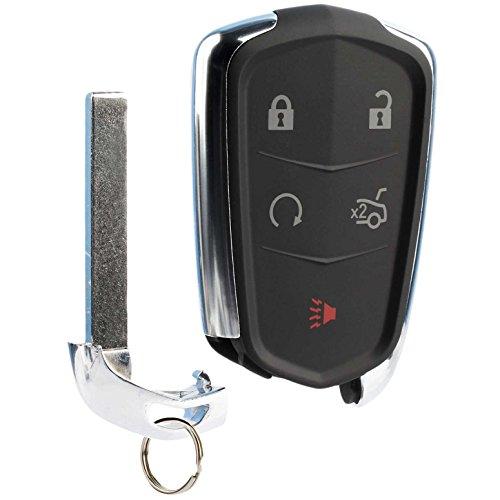 Car Key Fob Keyless Entry Remote fits Cadillac ATS CTS Escalade SRX XTS 2014 2015 2016 2017 (HYQ2AB) ()
