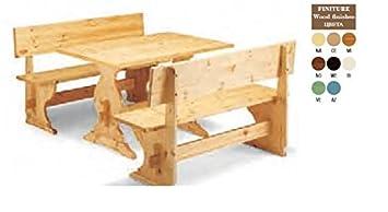 Topstuhl Table En Bois Avec 2 Bancs Banc En Bois Pin Laqué Naturel