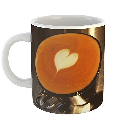 Westlake Art - Cup Baristum - 11oz Coffee Cup Mug - Modern Picture Photography Artwork Home Office Birthday Gift - 11 Ounce (Pottery Custard)