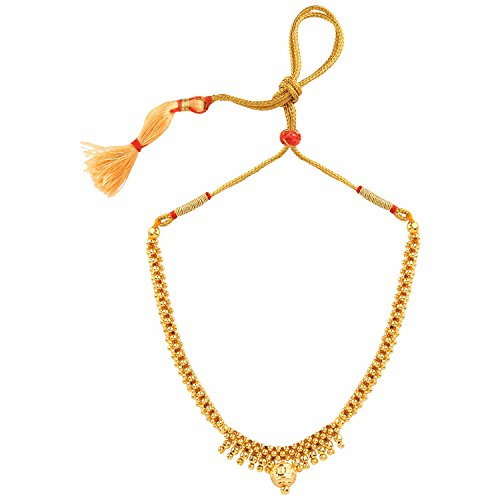 Indian Bollywood Ethnic Traditional Gold Plated Thushi Necklace Jewellery for Girls & (Traditional Indian Gold Jewelry)