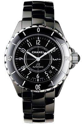 Chanel J12 Black Ceramic Automatic Midsize Unisex Watch H0685