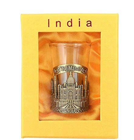 Buddha4all Taj Mahal India Shot Glass,Perfect for home,gifts and travel Shot Glasses with Storage Box HEIGHT: 3.5 INCHES