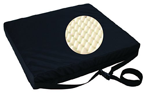 "ObboMed® SU-2628 Orthopedic Eggcrate Ventilated Foam Wheelchair Cushion for Decubitus Ulcer Prevention, Sciatica Pain, Pelvic Pressure, Tailbone Stress Relief, Air Circulation, Size 16"" x 18"" x 3"" (Convoluted Mattress Cushion)"