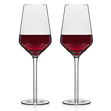 MICHLEY Unbreakable Wine Glasses, 100% Tritan Shatterproof Wine Glasses, BPA-free, Dishwasher-safe 13.7 oz, Set of 4