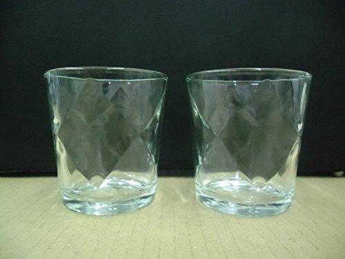 Set of 2 Drambuie Scotch Whisky Liqueur Diamond Pattern Lowball Rocks Glasses