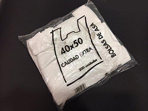 Bolsas de Plastico Asa Camiseta 40 x 50 cm: Amazon.es: Hogar