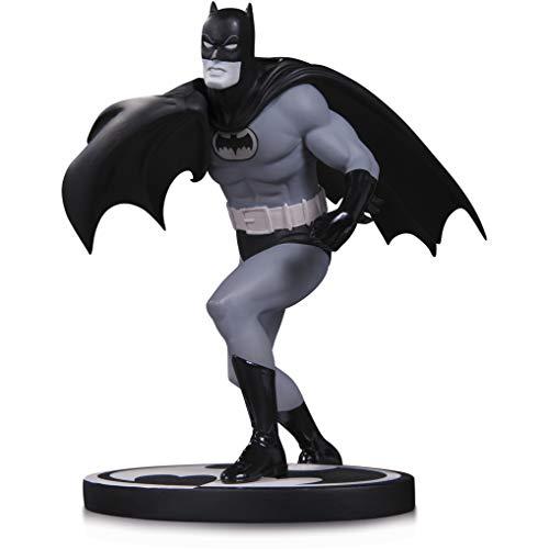 "DC Collectibles Batman by Carmine Infantino: ~6.25"" Batman Black & White Statue Figurine + 1 Official DC Trading Card Bundle (33735)"