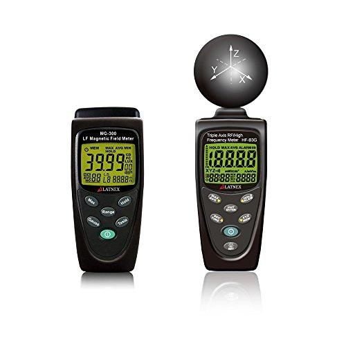 Tower Digital Lcd Line - EMF meters combo Gauss Magnetic Field meter and EMF RF meter detectors