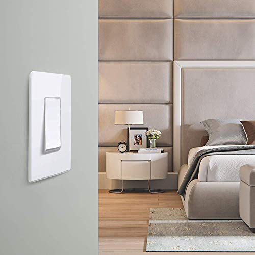 Smart Light Switch, Youngzuth 2.4Ghz WiFi Light Switch Works with Alexa, Google Home, Remote/Voice Control and Schedule, Neutral Wire Required, Single-Pole, No Hub Needed, 1 Gang 3 Switch(2Pack)