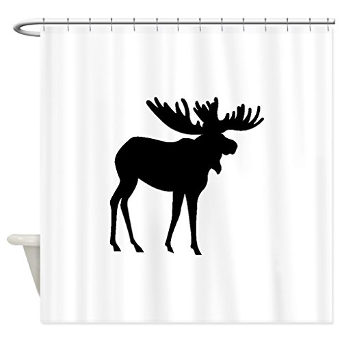 Zzdreamzz Moose Silhouette Waterproof Fabric Polyester Bathroom Shower Curtain 60(W) X 72(H)