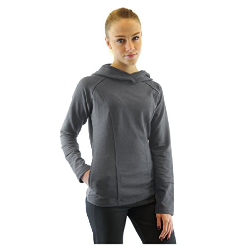Alex+Abby Plus-Size Stretch Cotton Hoodie 2X-Large Dark Grey Heather